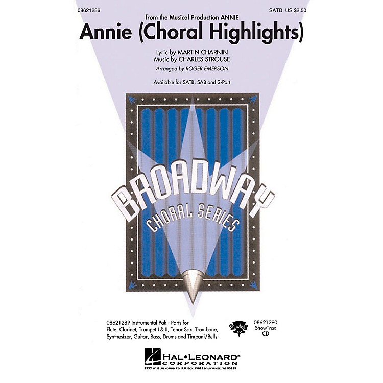 Hal Leonard Annie (Choral Highlights) 2-Part Arranged by Roger Emerson
