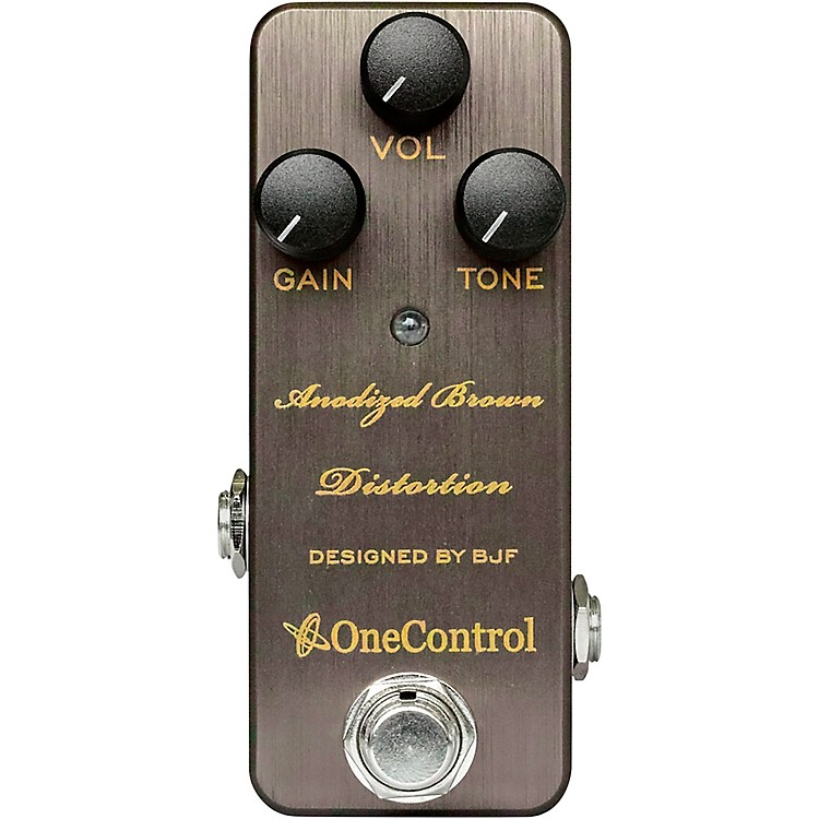 One Control Anodized Brown Distortion Effects Pedal