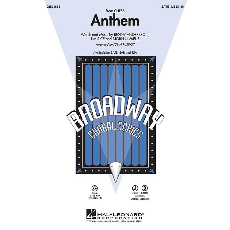 Hal LeonardAnthem (from Chess) SSA by Josh Groban Arranged by John Purifoy