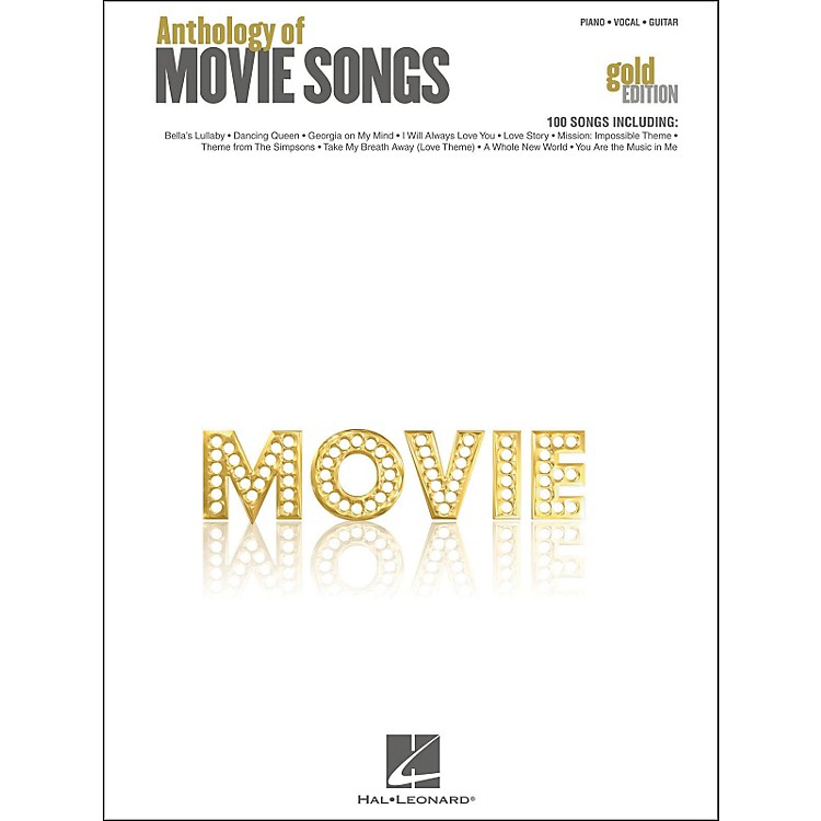 Hal Leonard Anthology Of Movie Songs - Gold Edition arranged for piano, vocal, and guitar (P/V/G)