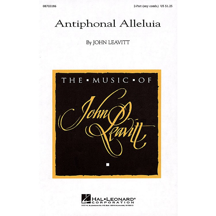 Hal LeonardAntiphonal Alleluia 2-Part any combination