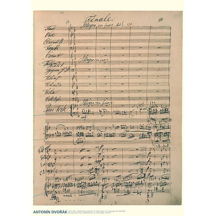 Axe HeavenAntonin Dvorak Music Manuscript Poster - Piano Concerto in G minor, Op. 33