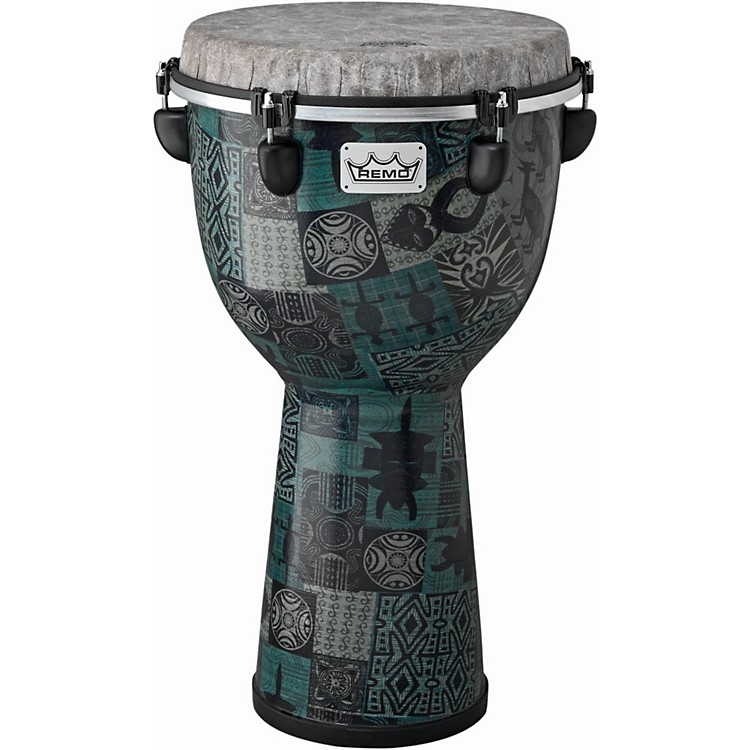 Remo Apex Djembe 12 in. Green Kinte Kloth