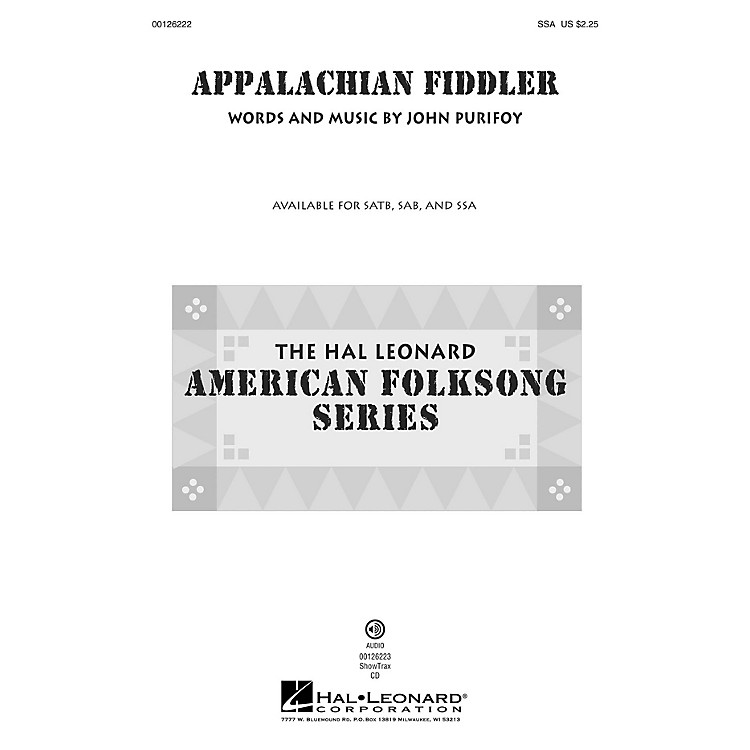 Hal Leonard Appalachian Fiddler SSA composed by John Purifoy