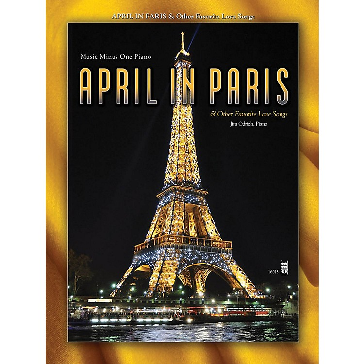 Music Minus OneApril in Paris & Other Favorite Love Songs Music Minus One Series Softcover with CD