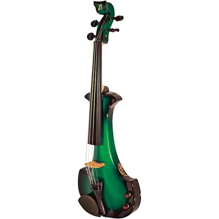 BridgeAquila Series 4-String Electric ViolinBlack-Green