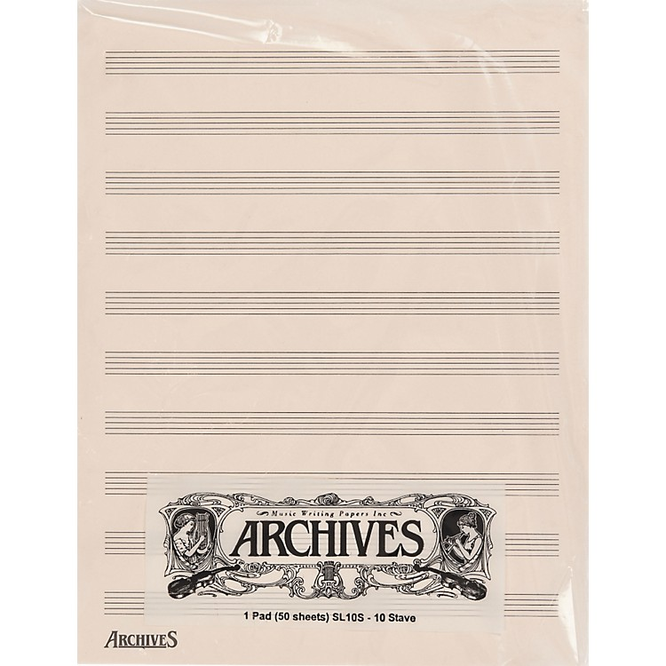 Archives Archives 10 Stave 50 Sheet