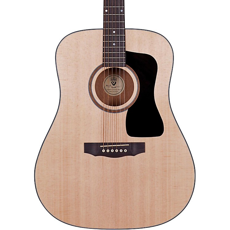 GuildArcos Series AD-3 Mahogany Dreadnought Acoustic Guitar