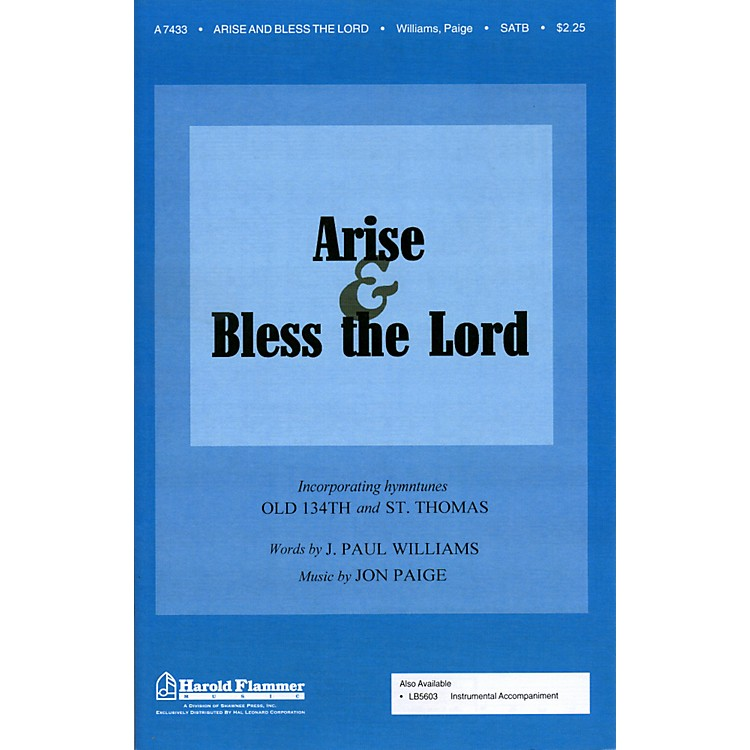 Hal Leonard Arise And Bless The Lord SATB