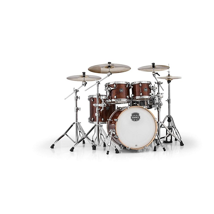 Mapex Armory Series 5-Piece Jazz/Rock Shell Pack Transparent Walnut