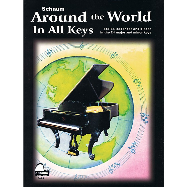 SCHAUMAround The World In All Keys Educational Piano Series Softcover