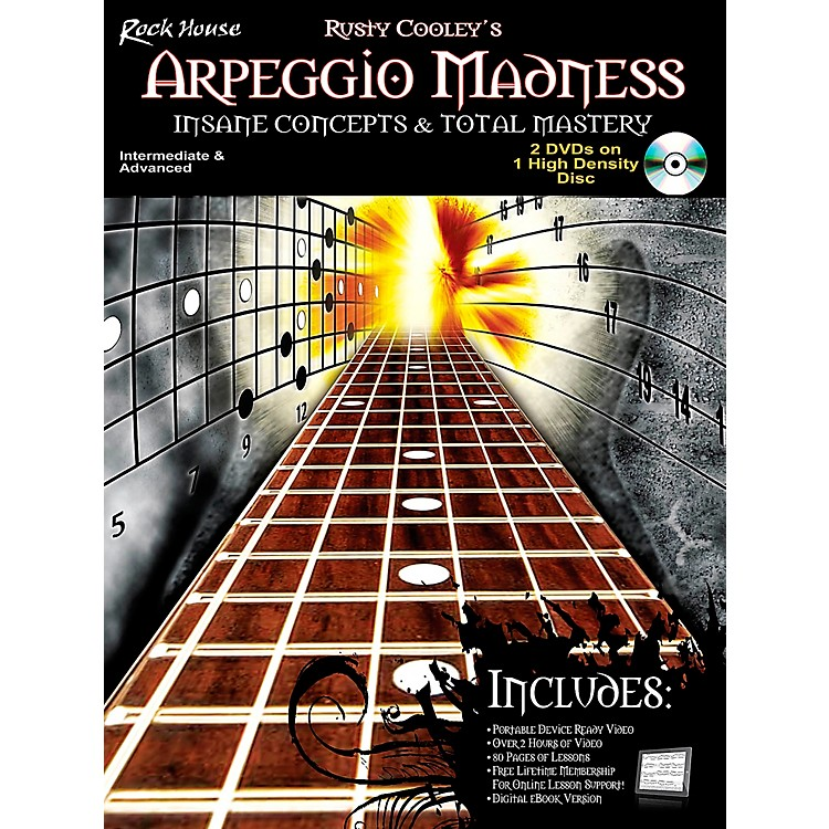 Rock HouseArpeggio Madness - Insane Concepts & Total Mastery Book/DVD