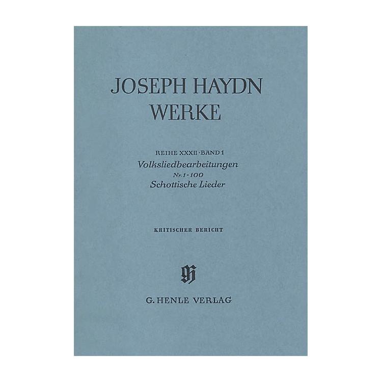 G. Henle VerlagArrangements of Folk Songs - Scottish Songs No. 1-100 Henle Edition Series Hardcover