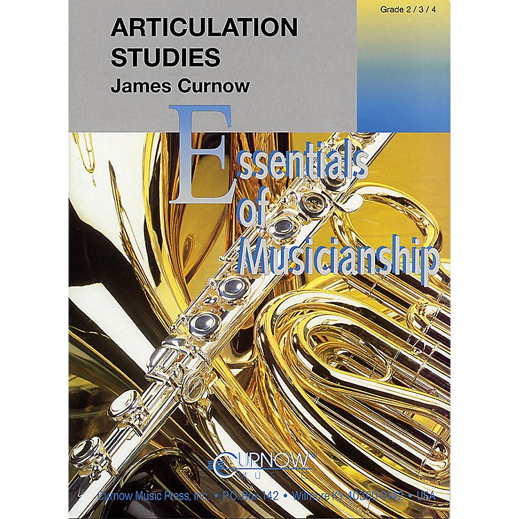 Curnow MusicArticulation Studies (Grade 2 to 4 - Score and Parts) Concert Band Level 2-4 Composed by James Curnow