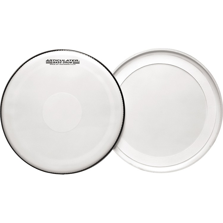 Aquarian Articulator Bass Drum Head White 22 in.
