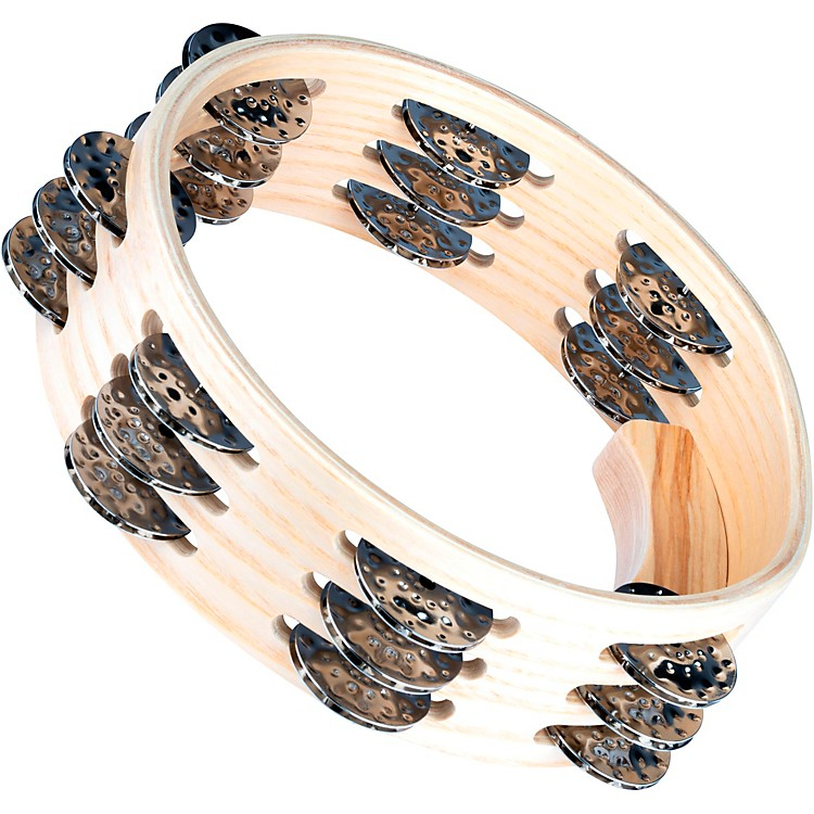 MeinlArtisan Edition Compact Tambourine with Steel Jingles 3 Row8 in.