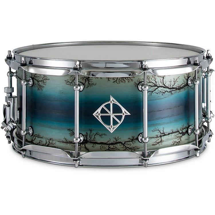 DixonArtisan Enchanted Ash Snare Drum14 x 6.5 in.Electric Blue Burst