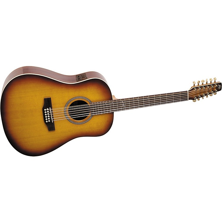 SeagullArtist Series 12-String Studio Dreadnought i-Beam Acoustic-Electric Guitar with Deluxe Case