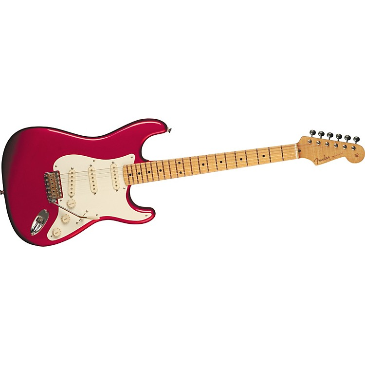 Fender Artist Series Eric Johnson Stratocaster Electric Guitar Candy Apple Red Maple Fretboard