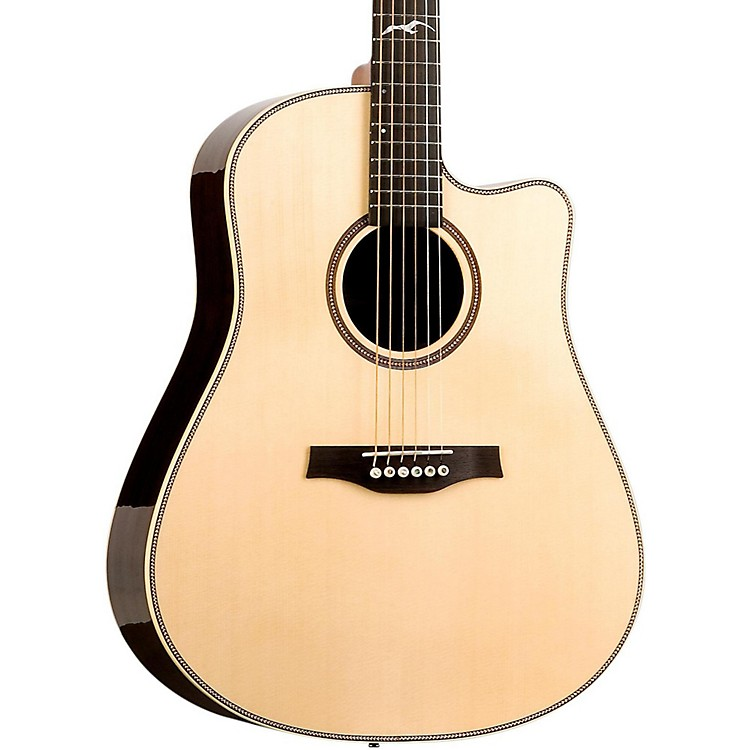 Seagull Artist Studio Deluxe CW Acoustic-Electric Guitar Natural 888365748283