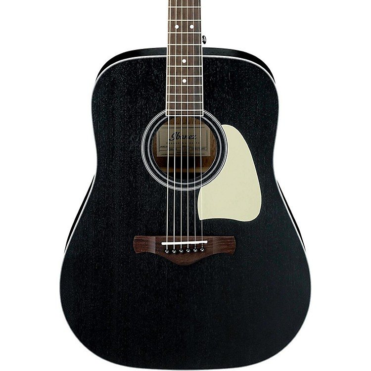 Ibanez Artwood AW360WK Solid Top Dreadnought Acoustic Guitar Weathered Black