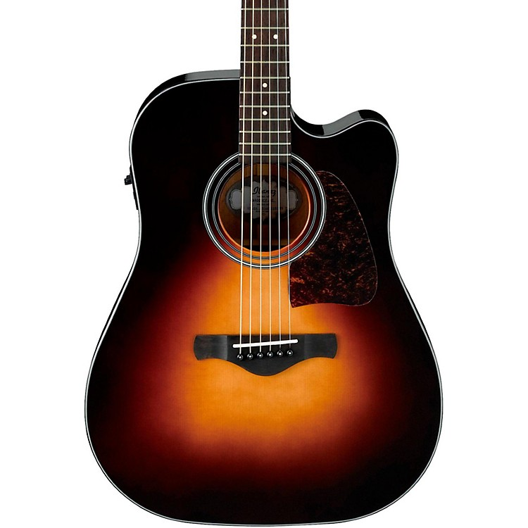 IbanezArtwood AW4000-BS Dreadnought Acoustic-Electric GuitarBrown Sunburst