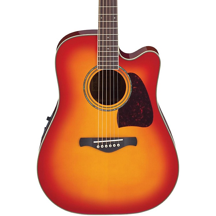 IbanezArtwood Series AW300ECE Solid Top Dreadnought Cutaway Acoustic-Electric Guitar