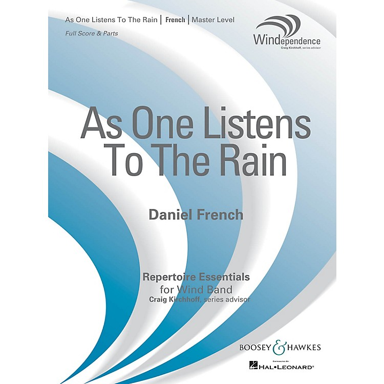 Boosey and HawkesAs One Listens to the Rain (Score Only) Concert Band Level 4 Composed by Daniel French