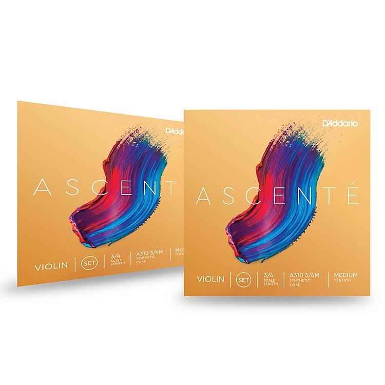D'AddarioAscente Violin String Set 2 Box Special3/4 Size, Medium