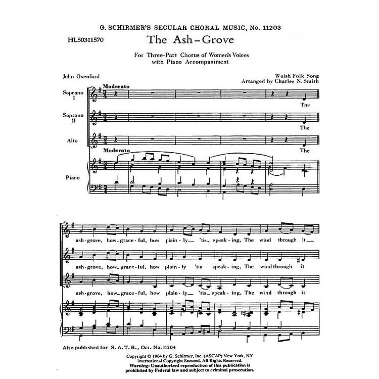 G. SchirmerAsh Grove  Welsh Folk Song SSA composed by Welsh Folk Song