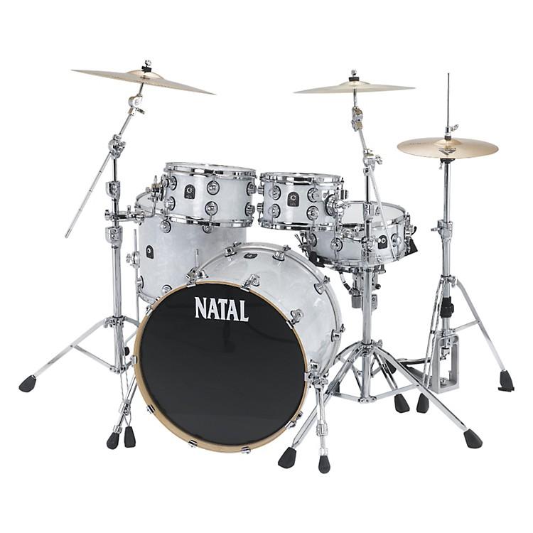 Natal DrumsAsh US Fusion X 5-Piece Shell PackWhite Swirl