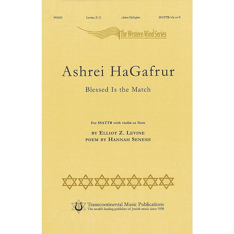 Transcontinental MusicAshrey Hagafrur SSATTB composed by Elliot Z. Levine