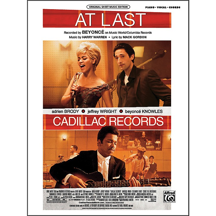 AlfredAt Last (from Cadillac Records) Piano/Vocal/Chords