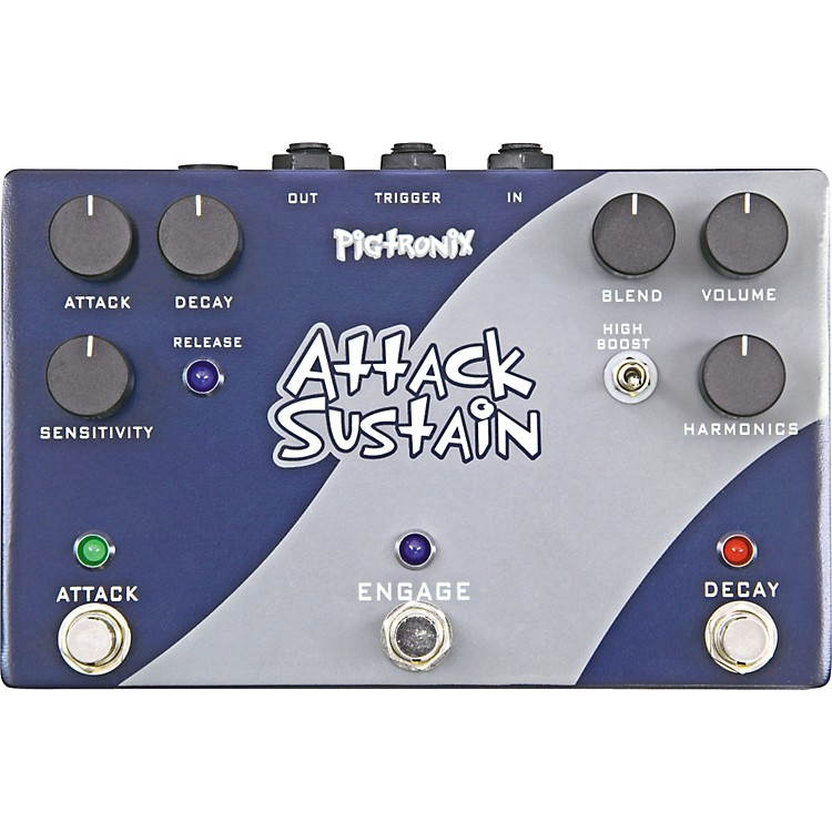pigtronix attack sustain guitar effects pedal music123. Black Bedroom Furniture Sets. Home Design Ideas
