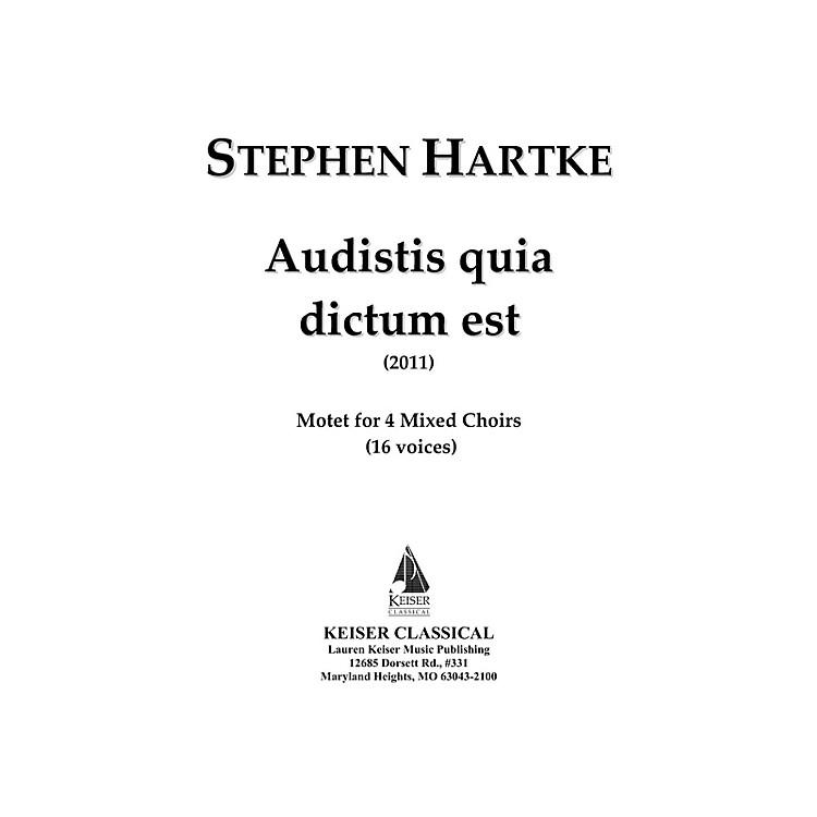 Lauren Keiser Music PublishingAudistis Quia Dictum Est: Motet for 4 Mixed Choirs (16 Voices) LKM Music Series by Stephen Hartke