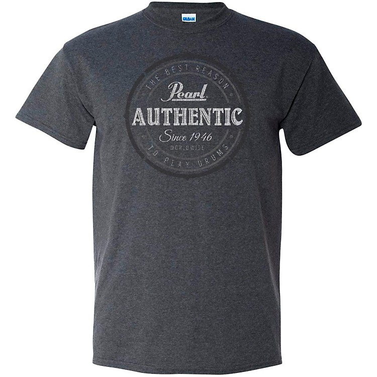 Pearl Authentic Tee Large Dark Gray