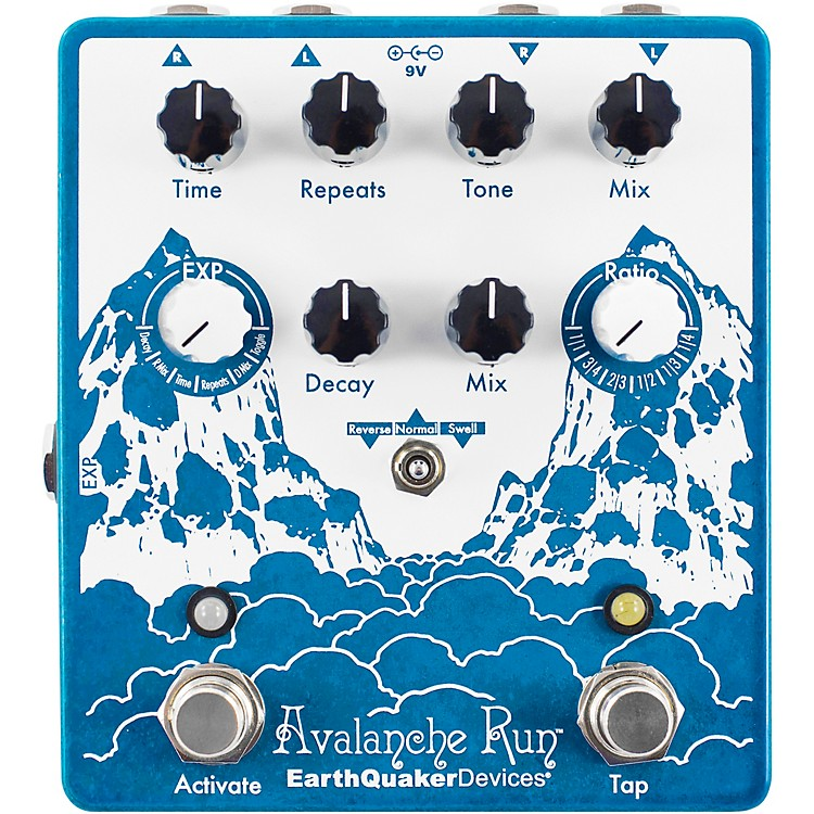 EarthQuaker Devices Avalanche Run V2 Reverb/Delay Effects Pedal