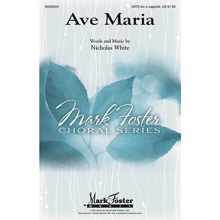 Shawnee PressAve Maria SATB DV A Cappella composed by Nicholas White