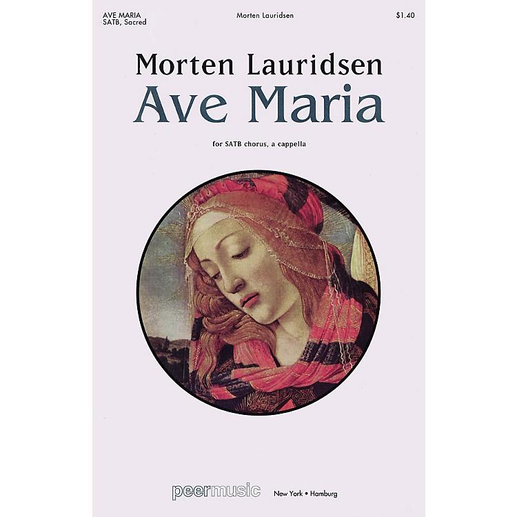Peer MusicAve Maria SATB a cappella Composed by Morten Lauridsen