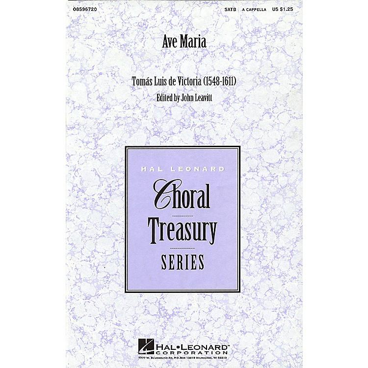 Hal LeonardAve Maria (SATB a cappella) SATB a cappella arranged by John Leavitt