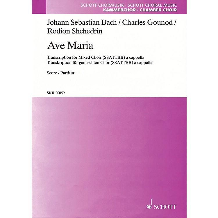 SchottAve Maria SSATTBB A Cappella Composed by Johann Sebastian Bach Arranged by Rodion Shchedrin