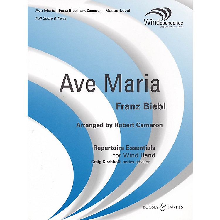 Boosey and Hawkes Ave Maria (Score Only) Concert Band Level 4 Composed by Franz Biebl Arranged by Robert Cameron