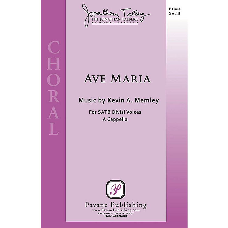PavaneAve Maria (The Jonathan Talberg Choral Series) SSAATTBB A Cappella composed by Kevin A. Memley