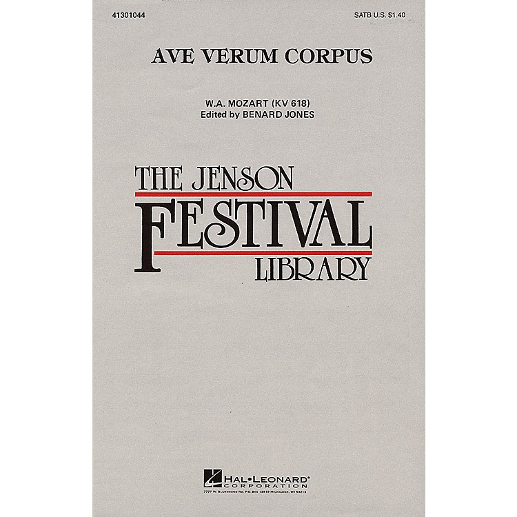 Hal Leonard Ave Verum Corpus SATB arranged by Benard Jones