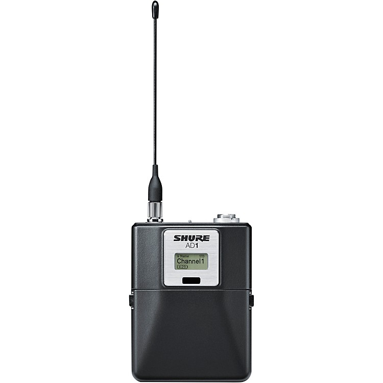 Shure Axient Digital AD1 Bodypack Wireless Transmitter Band 1 Black