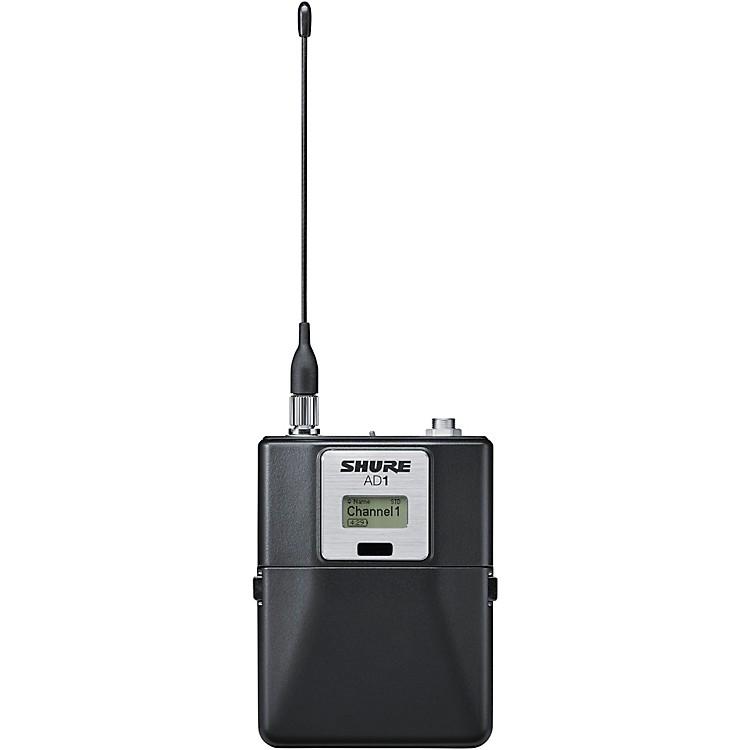 ShureAxient Digital AD1LEMO3 Wireless BodypackTransmitter, LEMO3 ConnectorBand 1Black