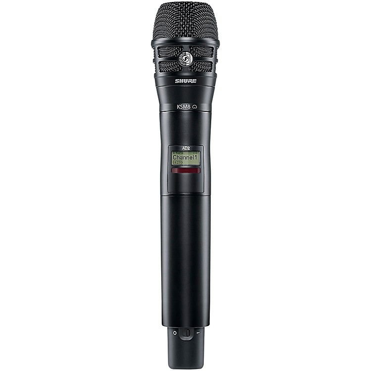 Shure Axient Digital AD2/K8B Handheld Wireless Transmitter with Black KSM8 Microphone Band 1 Black