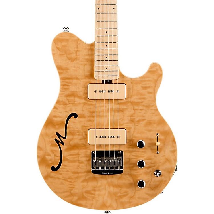 Ernie Ball Music ManAxis Super Sport MM90 Hollowbody Electric Guitar with PiezoBalboa Blue Burst
