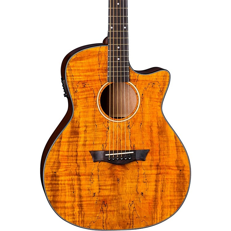DeanAxs Exotic Gloss Spalt Maple Cutaway Acoustic-Electric GuitarNatural