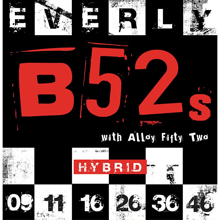 EverlyB-52 Rockers Alloy Medium Hybrid Electric Guitar Strings